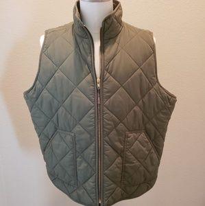 JCrew Green Puffer Vest in Size 3X